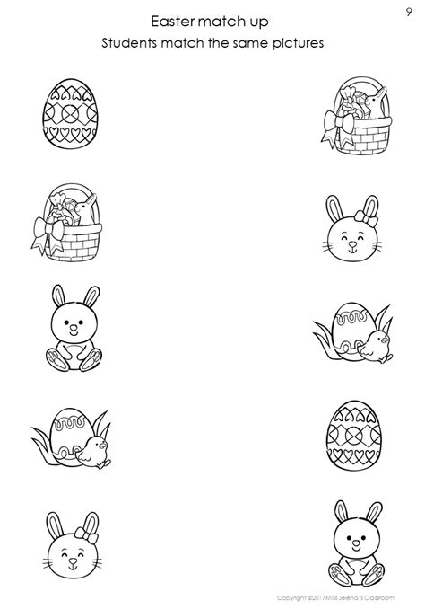 free sle easter same or different worksheets best of