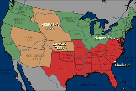 sectionalism civil war civilwar causes sectionalism and new territories