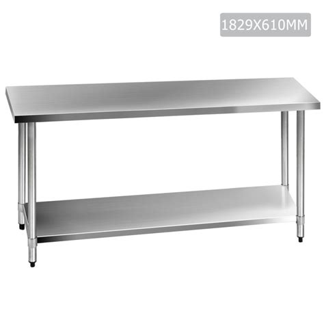 kitchen stainless steel benches 430 stainless steel kitchen work bench table 1829mm buy