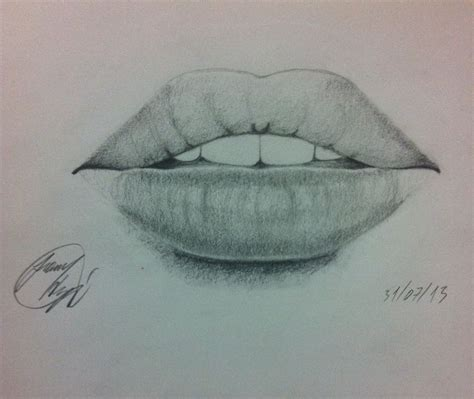 Drawing Mouths by Drawing Realistic Pencil My Drawings