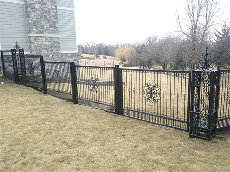 Decorative Fence Post by Check Out This Amazing Custom Wrought Iron Fence