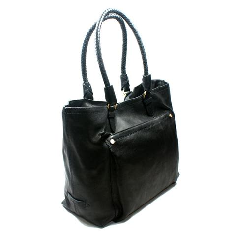 Cole Haan Tote Saddle cole haan saddle small soft black leather tote bag b35162