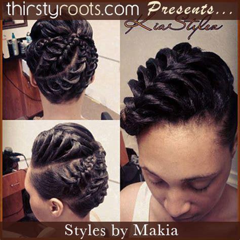 fishtail braid updo hairstyle thirstyroots.com: black