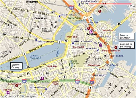 map of boston boston map travelsfinders