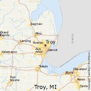 troy usa map best places to live in troy michigan