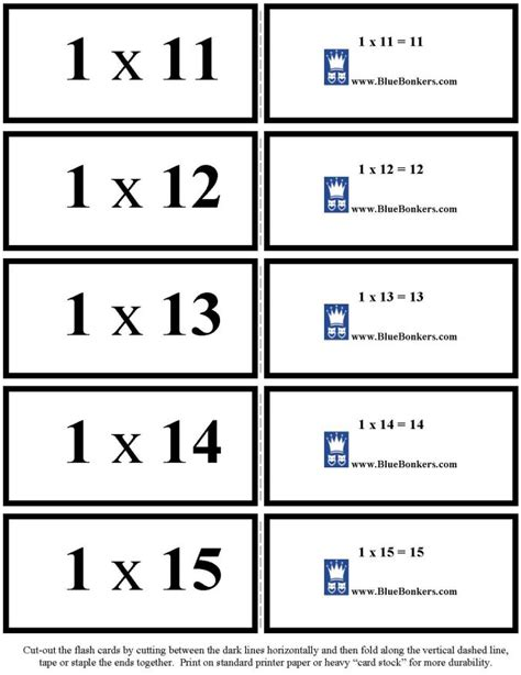 printable multiplication flash cards up to 15 bluebonkers free printable multiplication flash cards