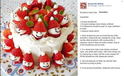 Cake Strawberry Decoration by Strawberry Snowman Cake Decorations Recipe Book