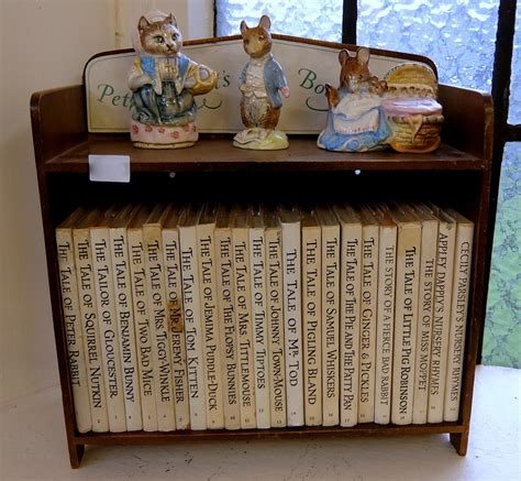 rabbit bookshelf containing twenty three beatrix