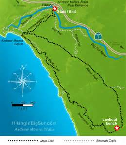 big sur map dan and hike the bluff trail at andrew molera state park big sur california over60hiker