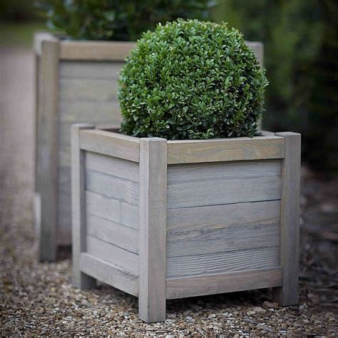 planter s wood planter by idyll home notonthehighstreet com