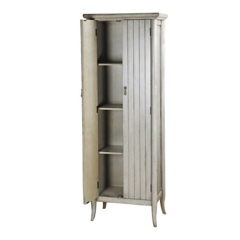 pulaski accents wine cabinet in distressed grey 675005