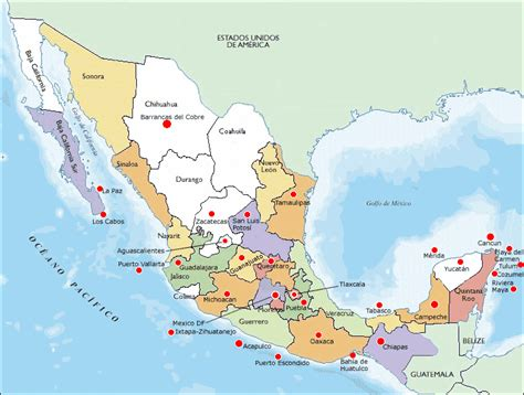 map of mexico vacation spots destinations map of mexico