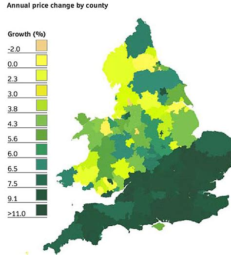 what is a map price land registry where are house prices rising daily mail