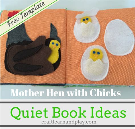 quiet book ideas mother hen with chicks craft learn