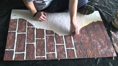 Home Decorating Ideas Living Room Walls painting fake brick and plaster walls youtube