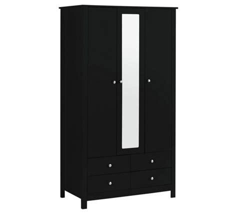 Argos Wardrobes Black by Buy Collection Osaka 3 Door 4 Drawer Mirrored Wardrobe