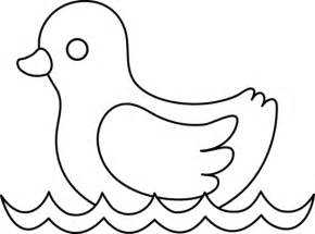 rubber ducky coloring pages baby duck line art free clip art