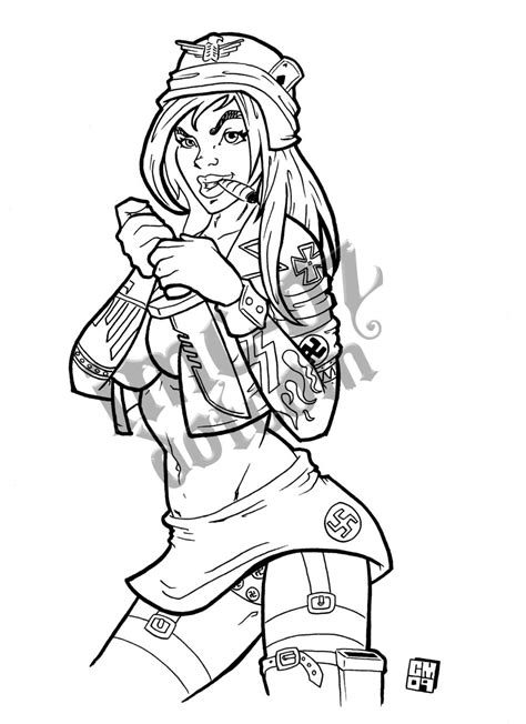 Free Zombie Pin Up Coloring Pages Pin Up Coloring Pages Free