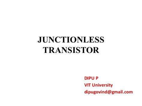 transistor fet slideshare transistor fet slideshare 28 images graphene transistors and two dimensional electronics