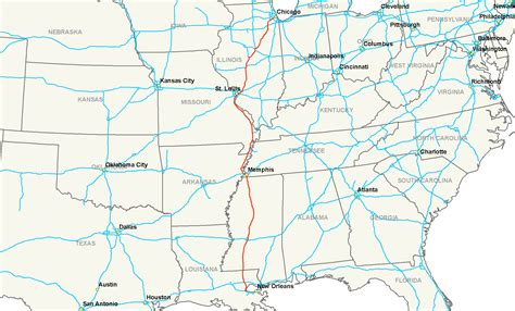 interstate map file interstate 55 map png