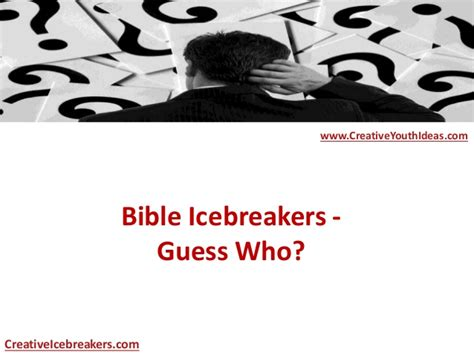 Bible Guess It bible icebreakers guess who