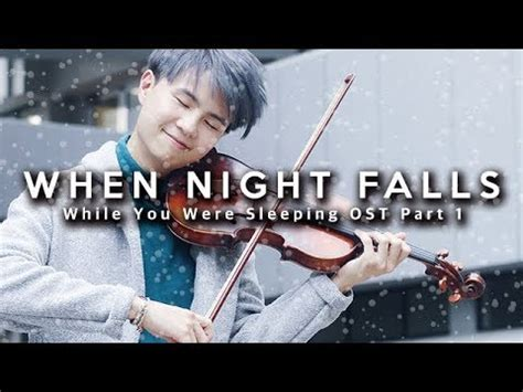 while you were sleeping ost1 when night falls sheet while you were sleeping ost when night falls violin