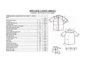 Garment Spec Sheet by Spec Sheet Of A Casual Shirt