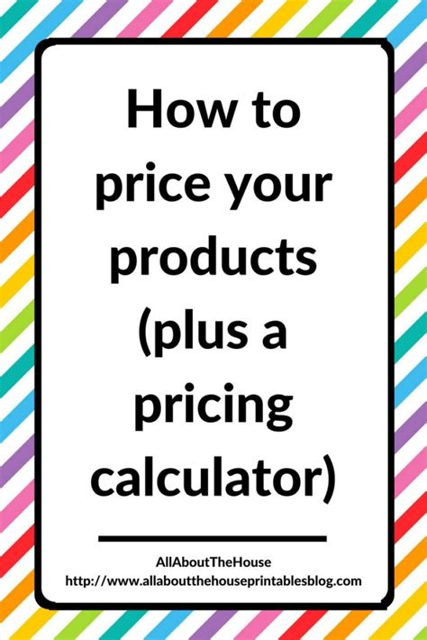 How To Price Handmade Items - how to price your products plus a pricing calculator