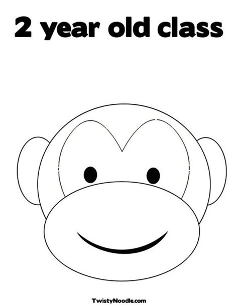 coloring page of a monkey face free coloring pages