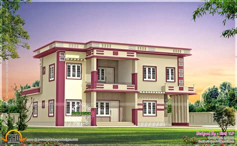 colored houses kerala home design and floor plans contemporary villa in