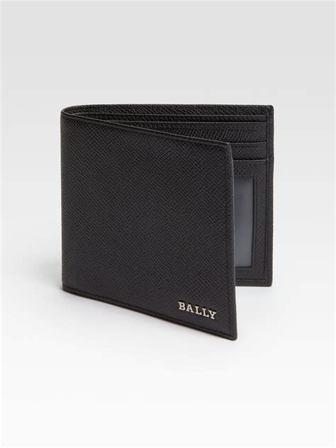 Bally Mans Wallet Bottom List lyst bally leather wallet in black for
