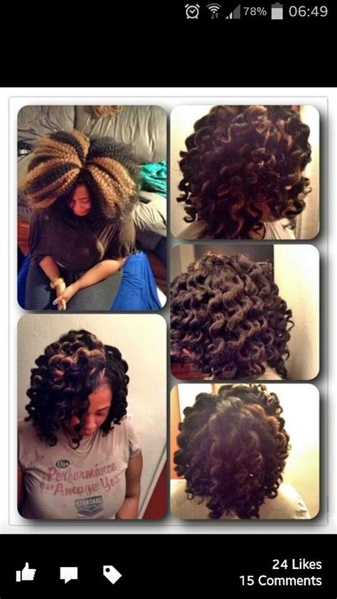 nautral hair om flex rods with braid beautiful protective styles and love this on pinterest