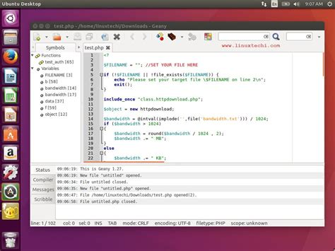 tutorial geany linux top 10 text editors for linux desktop