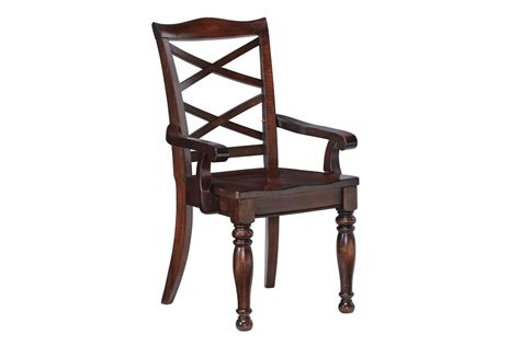 Rustic White Dining Chairs Porter Dining Room Arm Chairs In Rustic Brown Set Of 2 By