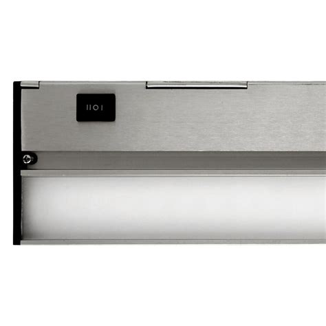 commercial electric 12 in led silver cabinet light