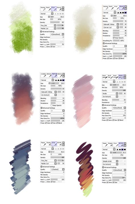 paint tool sai brushes brush settings by sirwendigo http sirwendigo deviantart