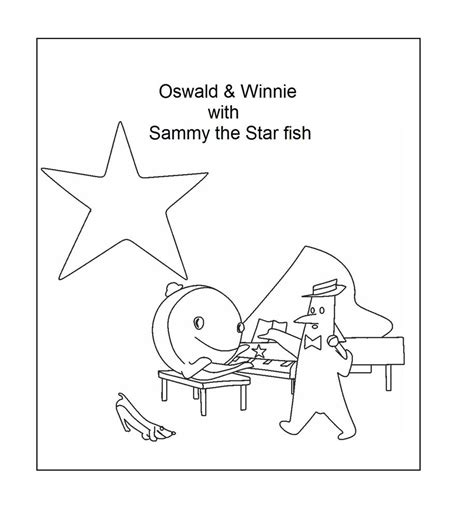 nick jr oswald coloring pages sammy the starfish coloring printable page