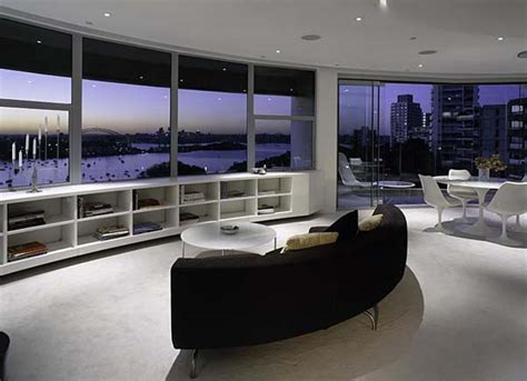 skyline appartments contemporary round apartment with astounding skyline views of sydney home decorating