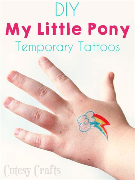 tattoo temporary printer temporary my little pony tattoos my little pony tattoo
