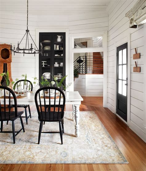 magnolia home joanna gaines trinity ty blue multi rug durable dependable stain resistantthe perfect dining table rug