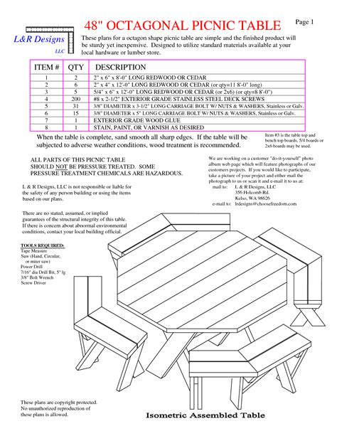 octagon table plans picnic table free octagon walk in picnic table plans free