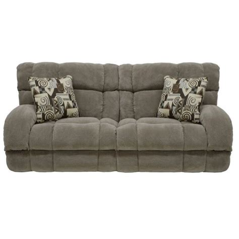 catnapper siesta power lay flat reclining fabric sofa in