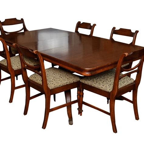 Regency Style Dining Table And Chairs Mahogany Regency Style Dining Table And Chairs By Ebth