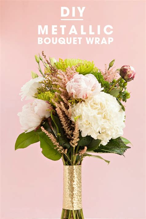 Wedding Bouquet Wrap by Check Out These Awesome Metallic Wedding Bouquet Wraps