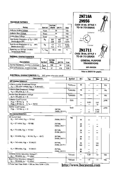 capacitor package datasheet 2n718a 296657 pdf datasheet ic on line