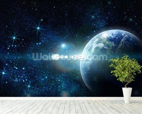 Earth Wall Mural realistic planet earth wallpaper wall mural wallsauce