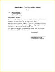 Two Weeks Notice Letter Template 2 How To Write 2 Weeks Notice Receipt Templates