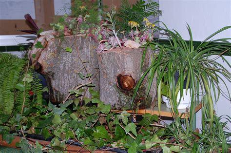 troncos decorados imagenes de jardines decorados con troncos