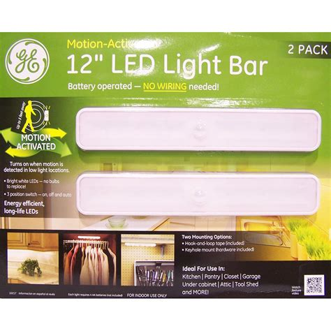 Ge 10217 Battery Operated Motion Activated 12 Inch Led Ge Led Light Bar