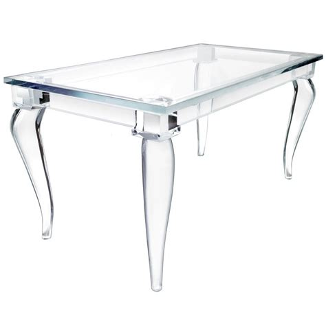 lucite table crenelle lucite desk by craig den brulle
